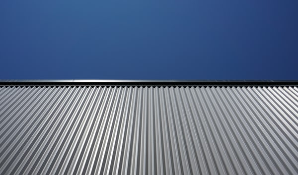 This is an image of a metal roofing.