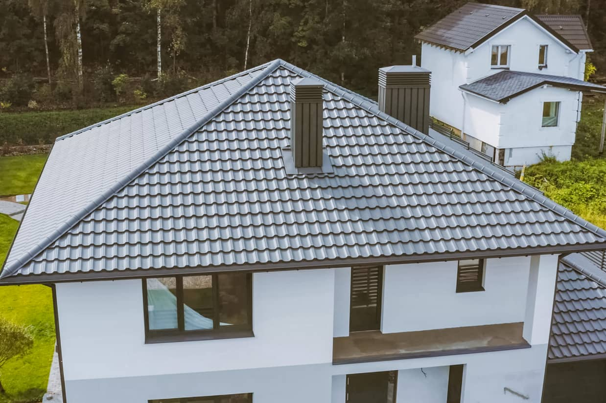 This is an image of a residential roofing.