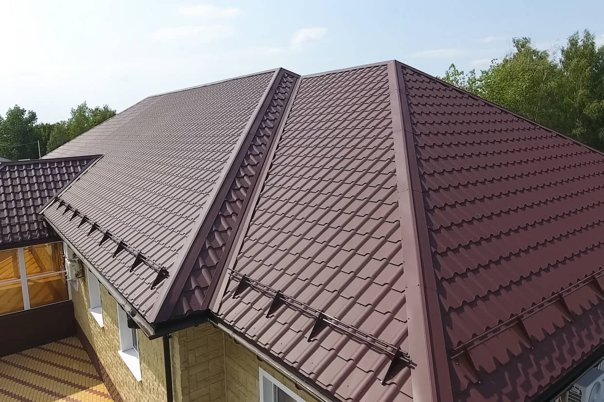 This is an image of durable metal roofing on a residential property.